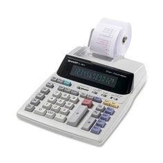 New Sharp Business Calculator Desktop 2 Color Printing Office Machine 12 Digit Colors Serials, High Speed 2, Sharp Prints, Office Prints, Positive And Negative, Tv Videos, 2 Colours, Calculator, Consumer Electronics