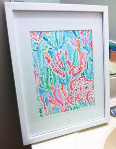Lilly Pulitzer Let's Cha Cha inspired watercolor by SREdesign