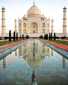 #mytajmemory The glorious Taj Mahal. It is one of those iconic monuments you have seen photos of all your life but nothing quite prepares you for its magnificence when seen in person. There is no question why it is one of the Wonders of the World. I awoke at dawn in order to watch the sunrise over the Taj capturing the colors as they changed and avoiding the crowds. I could have stared at its beauty all day long. It truly took my breath away. I love symmetry and reflection and here you have…