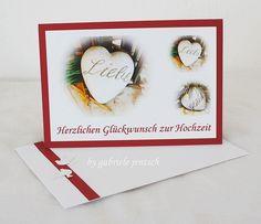 Karte++Hochzeit+Vermählung+von+PHOTOGLÜCK+auf+DaWanda.com