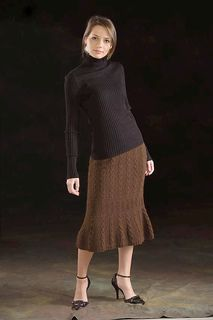 Seed and Triple Gull Cable Skirt by Ann McCauley