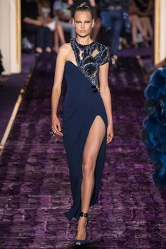 Texture...Atelier Versace Fall 2014 Couture Fashion Show - Elisabeth Erm (Elite)