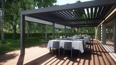 Aluminium pergola / with mobile slats - OPERA - Pratic F.lli Orioli Spa