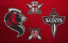 Dubuque Fighting Saints Sports Logo Team Branding Design Sports Branding
