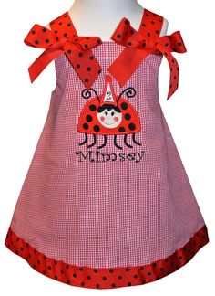 CUSTOM BIRTHDAY LADYBUG Dress or Outfit for by ChildrensCottage, $53.00
