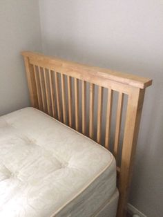 Silent night single divan bed with mattress. In great condition. Also has an oak headboard and has t