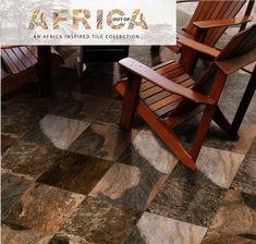 The rich colours and textures of stone-look tiles are perfect for outdoor areas, brining the feel of a bush lodge to your home. Shown here is the Northern Multicolour tile.  #outofafrica #africanstyle #homedecor #patio #outdoor #tiles #stonelook