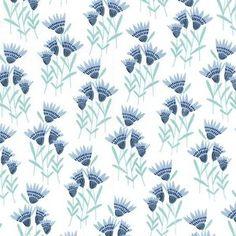 Michael Miller House Designer - Happy Birds - Cornflower in Blue