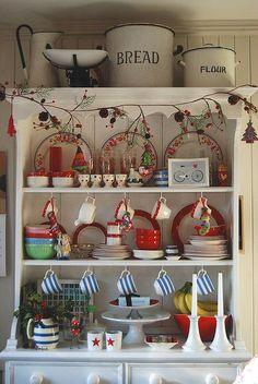 Country Display shelf kitchen vintage shabby chic