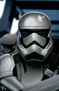 Star Wars Episode VII fan art of Storm Trooper