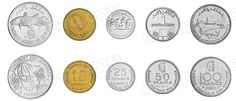 Comores,  set of 5 uncirculated coins