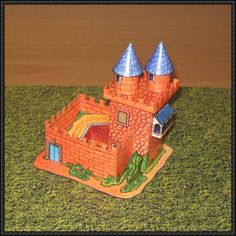 Simple Castle Free Building Paper Model Download - http://www.papercraftsquare.com/simple-castle-free-building-paper-model-download.html