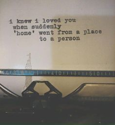 I love this so much. When I think of home the first thing I think of is you. I love you so much Pretty Words, Beautiful Words, Favorite Quotes, Best Quotes, Youre My Person, It Goes On, All You Need Is Love, You Are Mine, You Are My Home