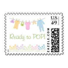 Ready to POP! Little Clothes Baby Shower Stamps