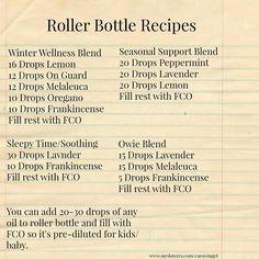 doTERRA roller bottle recipes.