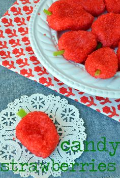 Easy candy strawberries for Valentines Day. Fun for a snack or party.
