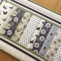 Butterfly Table Runner, Bumble Bee Quilted Table Runner, Fabric Floral Table Topper, Quilted Table Mat, Gardeners Gift, Mothers Day Gift by SewnByVicki on Etsy https://www.etsy.com/uk/listing/600094983/butterfly-table-runner-bumble-bee