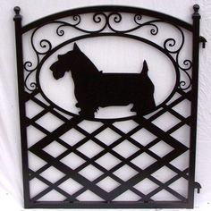 Scottish Terrier Metal Art Iron Garden Gate