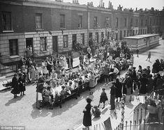 The sun shone on Tilloch Street in Islington, north London, as residents held a street par...