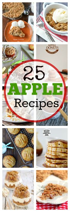 Fall Baking: 25 Things to Bake with Apples (and make your house smell amazing!) #baking #recipes #fall #apples