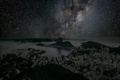Learn more about how he made these images and see the darkened skylines of New York, Rio de Janeiro, Los Angeles, Tokyo, Shanghai, Hong Kong, San Francisco, Brooklyn, Paris and Sao Paulo here: http://www.treehugger.com/slideshows/culture/thierry-cohen-envisions-city-skylines-against-stars/
