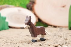 Waldorf Wooden Donkey Toy, Bio Toy,Animals, Zoo, Handmade wooden toy,Toys for Kids,Gifts,Partyfavors for Boys and Girls,Birthday present