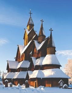 Built in the early century, Heddal stave church is the largest of its kind in Telemark, Norway Travel Pictures, Cool Pictures, Beautiful Norway, Scandinavian Countries, Church Architecture, Norway Travel, Fjord, Cathedral Church, Oslo