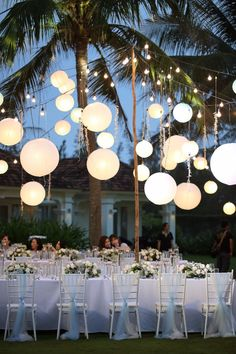 Breathtaking hanging latern lighting from an outdoor wedding reception. 🎶 # outdoor wedding lighting How To Have The Perfect Beach Wedding In Vietnam Wedding Reception Ideas, Wedding Ceremony, Wedding Venues, Wedding Planning, Wedding Day, Wedding Photos, Event Planning, Diy Wedding, Reception Layout