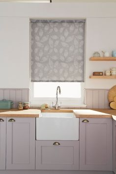 Gosford Grey Roller blind for your kitchen from Hillarys. Find more inspiration here: http://www.hillarys.co.uk/browse-by-room/kitchen/