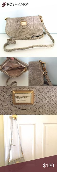 Marc by Marc Jacobs Crossbody Beautiful. Brand new condition. Gold hardware, pic sandy snake skin pattern, mbm logo inside, adjustable length, cross body, mini pocket. Super cute love it to death but I never wear gold jewelry so can't match! Needs home 😍 Marc by Marc Jacobs Bags Crossbody Bags
