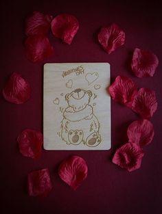 Kartka na Walentynki - PERSONALIZOWANE życzenia z drugiej strony 10,5 x 15 cm, grubość 3 mm 8 zł - 1 szt. info@dex-druk.pl