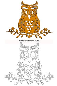 A lovely owl sitting on the branch of a tree. These transparent patterns are typically accessible as cut outs that you can print and cut to make wonderful owl related artworks. Owl patterns accessible here can be successfully used to make of owls in 2D or 3D arrange. Digital clip art drawing for scroll saw, cnc laser