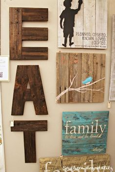Woodstock Market...Love the bird wooden sign and the family one underneath it  (via Southern Hospitality blog)