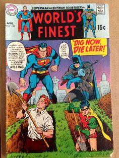 DC World's Finest Superman and Batman No. 195 August 1970