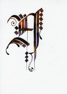 #calligraphy #art #calligrapher #calligraphymasters #handlettering #lettering #goth #gothic  #calligraphymasters #gothica #beauty #artist  Drop Cap, Calligraphy Alphabet, Illuminated Letters, Typography, Ink, Monograms, Virginia, Macrame, Symbols