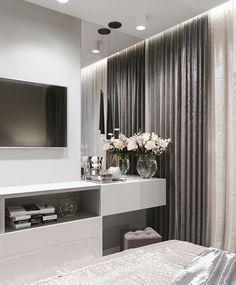 The Best 2019 Interior Design Trends - Interior Design Ideas Luxury Bedroom Design, Modern Bedroom Decor, Home Room Design, Room Ideas Bedroom, Small Room Bedroom, Home Bedroom, Home Living Room, Apartment Interior, Luxurious Bedrooms