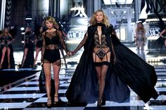 Taylor Swift and Karlie Kloss Took Their BFF Status to New Levels on the VS Stage: We all know that Taylor Swift and supermodel Karlie Kloss are best friends, so it was just pure magic when their respective worlds collided on the runway during the 2014 Victoria's Secret Fashion Show on Tuesday.