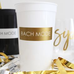 BACH MODE | order as is or put names on the back of the cups
