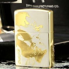 1994 Plated Silver With Golden Zippo Windy Girls Lighter Limited Edition