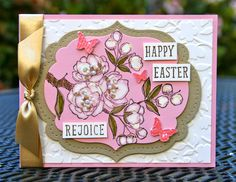 Krystal's Cards: Stampin' Up! Indescribable Gift Easter #krystals_cards #stampsomething #eastercard #indescribablegift #bleachtechnique #stampinup #sendacard
