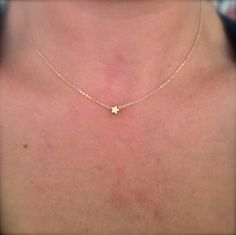 Tiny star necklace . Dainty everyday jewelry. $16.00, via Etsy.