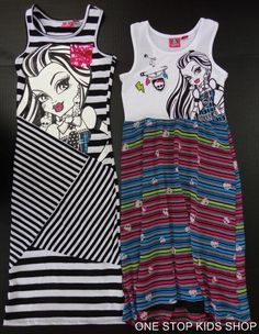Monster High Dresses for Girls | Monster High Girls 6 6X 7 8 10 12 14 16 Outfit Maxi Dress Shirt Skirt ...
