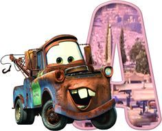 Alfabeto de Mate de Cars.