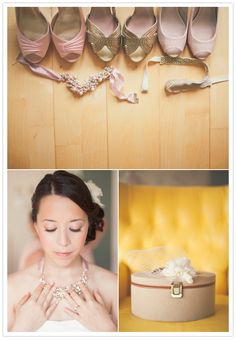 Glasgow Scotland wedding: Maria + Lee  hues of pink wedding shoes and bird cage veil