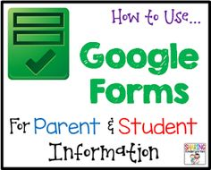 Sharing Kindergarten: How to Use Google Forms for Meet the Teacher