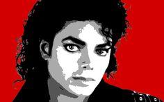 Pintura moderna mano de estilo del arte pop de Michael Jackson