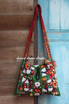 SALE / Luxury Lanna Vintage Kutch carry bag by LuxuryLannaCrafts, $60.00