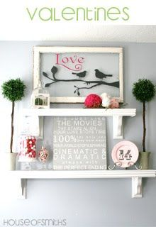 """Another great remake of an old frame or old wooden window! Love the """"Love Birds"""" saying! Perfect for Valentine's Day or any day of the yr!"""