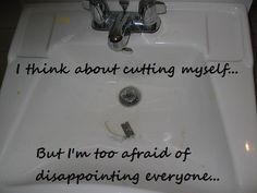 A journey through Jennifer's mind in images: self harm