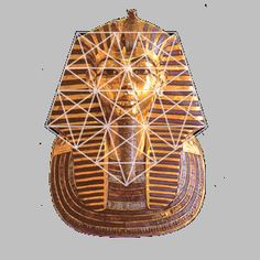 Phi / The Golden Proportion in Culture. The head piece of ancient Egypt's young pharoah Tutankhamun was created of solid gold to encase his mummy c. 1300 BC. with pentagonal symmetry.